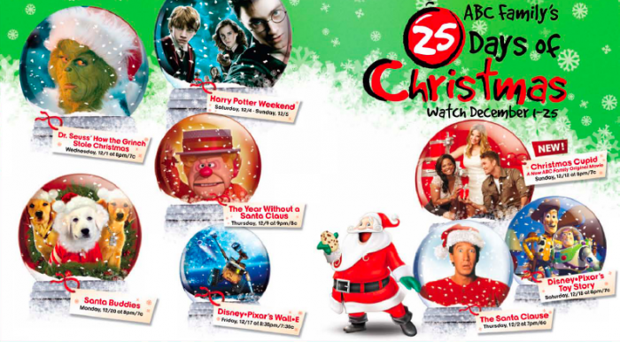 Abc Family 25 Days Of Christmas.Abc Family S 25 Days Of Christmas Schedule Mom And More