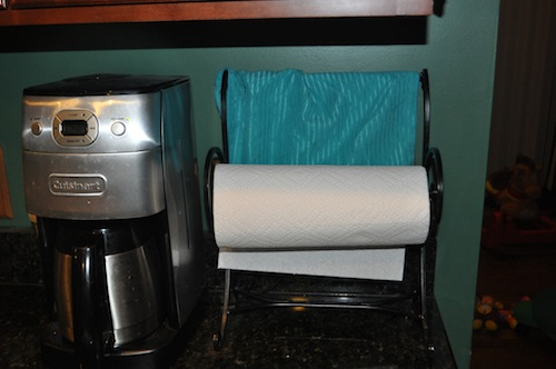 paper towel holder before