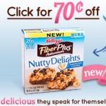 Save on New Kellogg's FiberPlus Nutty Delights!