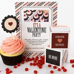 Free Printable Valentine Candy Box and Party Circle