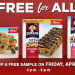 Don't miss the Quaker's Free For All Friday in-store event TODAY!
