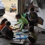 Wordless Wednesday: Paint + Wood = Happy Kids!