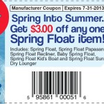 $3 off any Spring Float item From SwimWays #SwimSteps