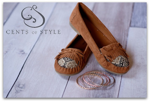 Cozy Moccasin Shoes & Bracelets For $21.95 Shipped TODAY Only!