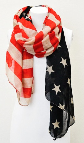 Stars and Stripes Scarf for $4.99 and FREE SHIPPING!
