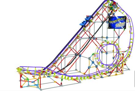 knex thunderbolt roller coaster 2