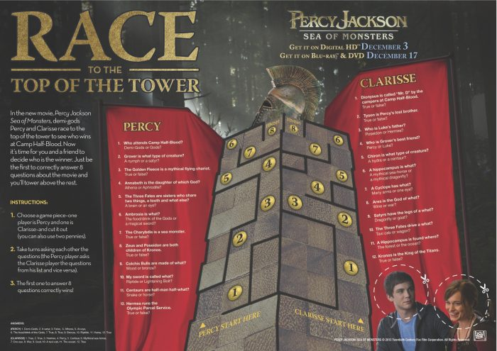percy jackson tower game