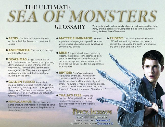percy jacksons monsters glossary
