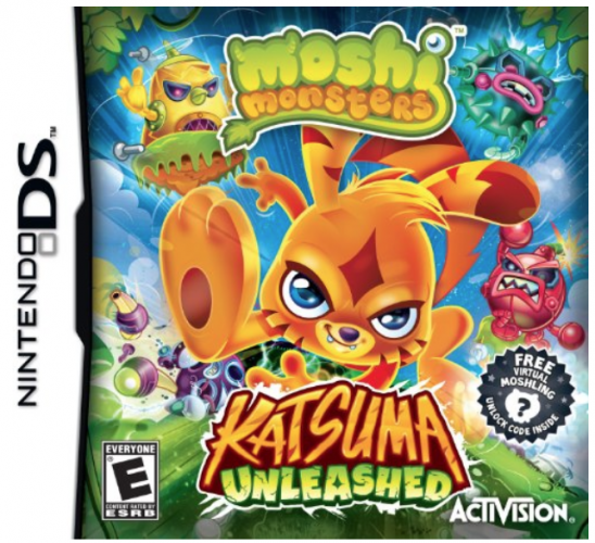 "Nintendo DS Game: ""Moshi Monsters: Katsuma Unleashed"""