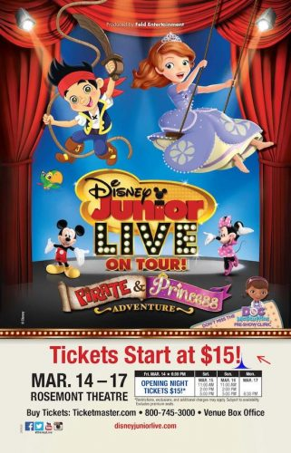 "Disney Junior Live On Tour! ""Pirate & Princess Adventure"" is Coming to Chicago March 14-17th! {Coupon Code}"