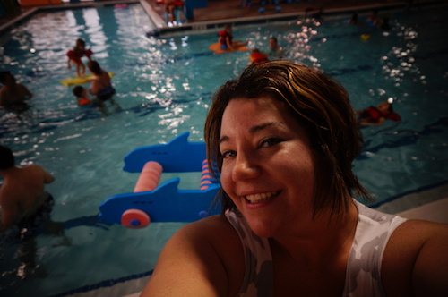 Wordless Wednesday:  My Son's Goldfish Swim School Birthday Party #GoldfishSwim