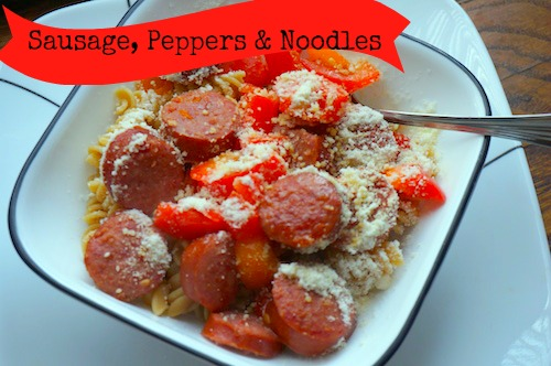 Recipe: Sausage, Peppers & Noodles