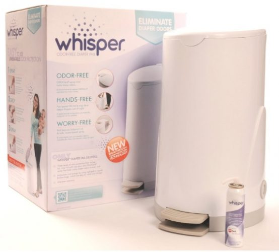 Say Bye to Odors With the Whisper Diaper Pail {Review}
