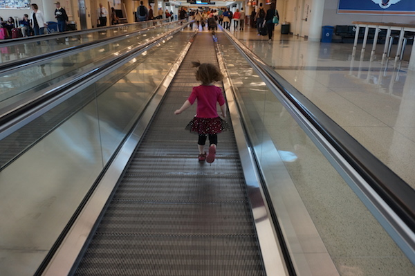 Wordless Wednesday:  Running in the Airport