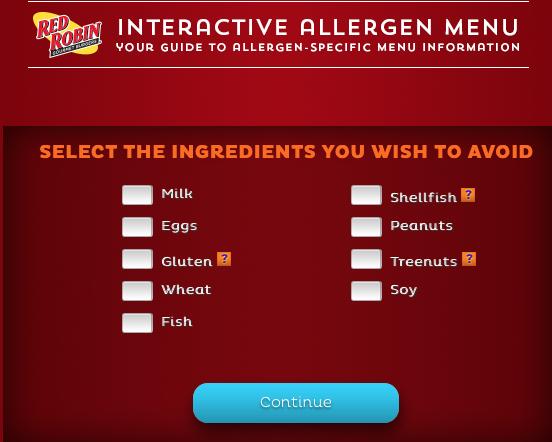 red robin allergen menu 1