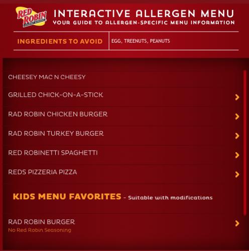 red robin allergen menu 2
