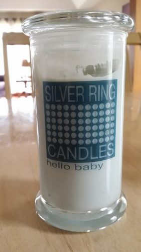 silver ring candles hello baby