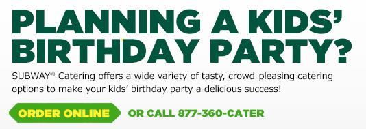 subway birthday party