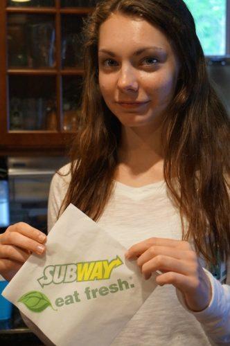 subway logo girl