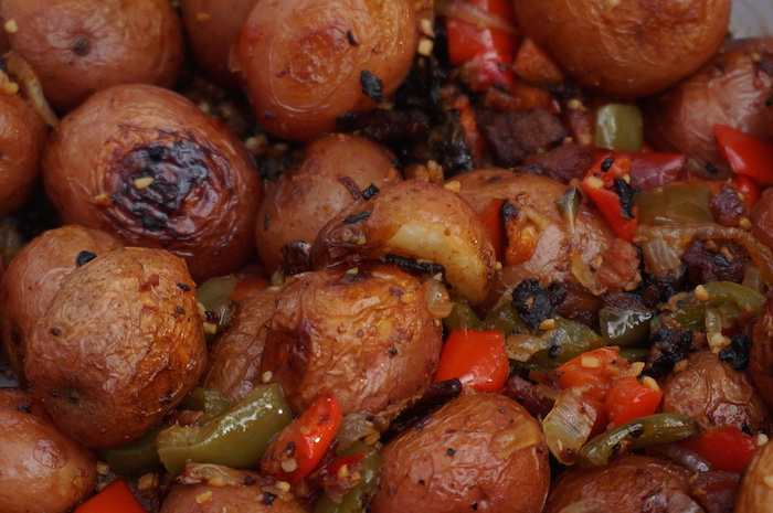 Recipe: Baked Potatoes With Bacon & Peppers