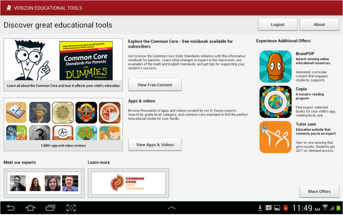 verizon educational tools