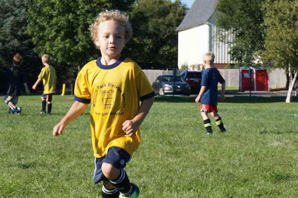 Wordless Wednesday: 1st Soccer Game!