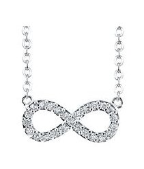 silver Genuine Crystal Infinity Pendant