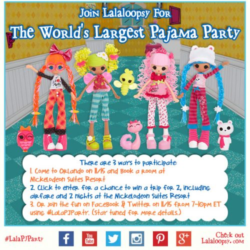 The Lalaloopsy World's Biggest Pajama Party is Coming! #LalaPJParty