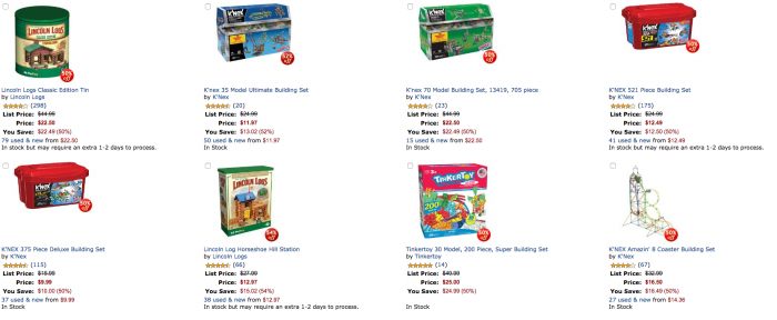 50% Off Select K'NEX Building Sets on Amazon TODAY ONLY! As Low as $10 for 375 Pieces! #KNEX