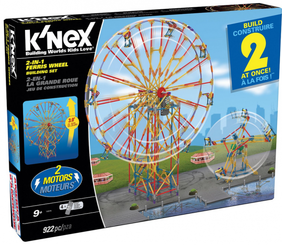 K'NEX 2-in-1 Ferris Wheel Building Set #KNEX {Review}