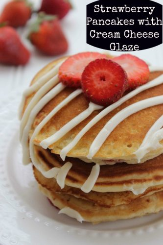 Recipe: Strawberry Pancakes with Cream Cheese Glaze