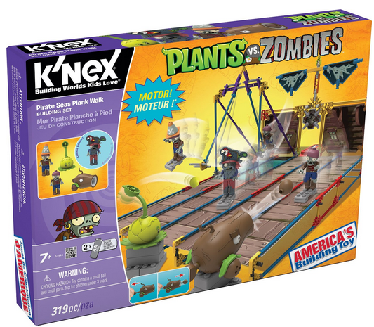 K'NEX Plants Vs. Zombies Pirate Seas Plank Walk Building Set #KNEX {Review}