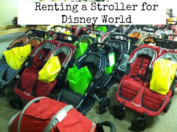 renting stroller disney world