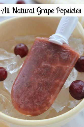 Recipe: All Natural Grape Popsicles