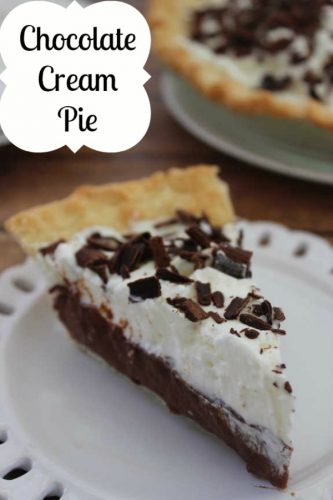 Recipe: Chocolate Cream Pie