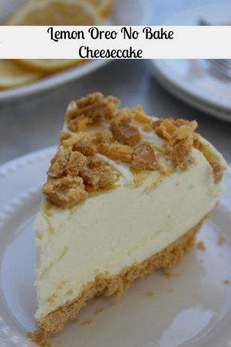 RECIPE: Lemon Oreo No Bake Cheesecake