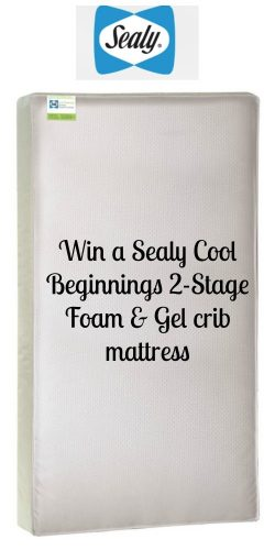 Sealy Cool Beginnings 2 Stage Foam and Gel Crib Mattress