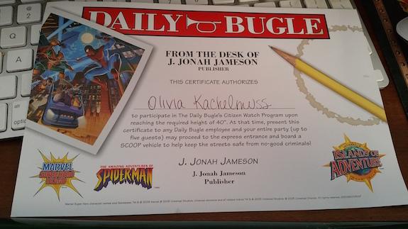 universal height certificate