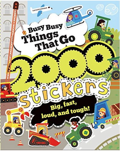 parragon Busy Busy Things That Go with 2000 Stickers
