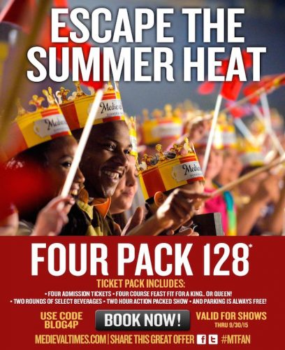 Great Deal on Medieval Times Tickets for the Summer! #MTFan #MedievalTimes