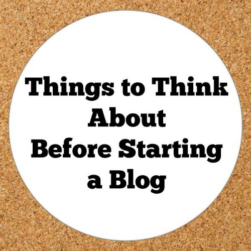Things to Think About Before Starting a Blog