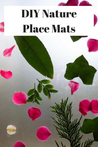 DIY Nature Place Mats #AdventureAhead #BackToSchool