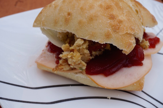 Serving Up a Thanksgiving Sandwich featuring Healthy Ones Smoked Turkey Breast