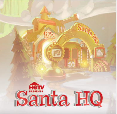 Reinventing the Traditional Santa Claus Expierence With Santa HQ #loveHGTV