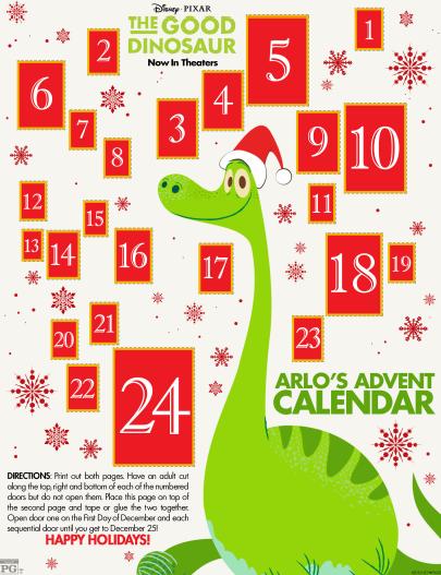 The Good Dinosaur Advent Calendar #GoodDino