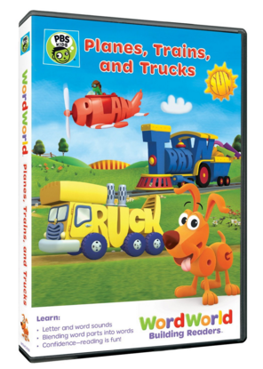 "DVD ""WordWorld: Planes, Trains, and Trucks"""