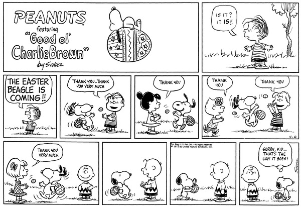 peanuts charlie brown strip