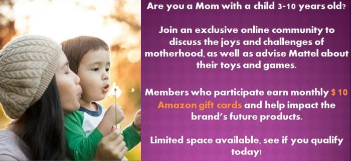 Earn Amazon Gift Cards if You Have a Child 3-10 Years Old!