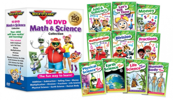 Save on the Rock 'N Learn Math & Science 10-DVD Collection!