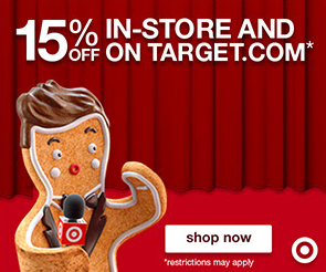 Save 15% off {Almost} Everything at Target TODAY!